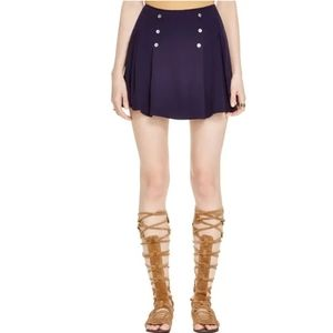 💙 Free People Pleated Button Miniskirt 💙